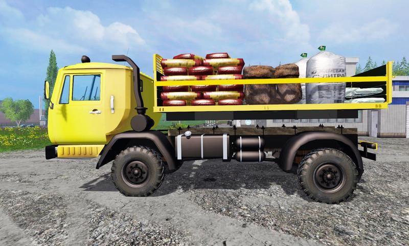 Русская техника для Мод-пак грузовик КАЗ 4540 v 1.0 для Farming Simulator 2015