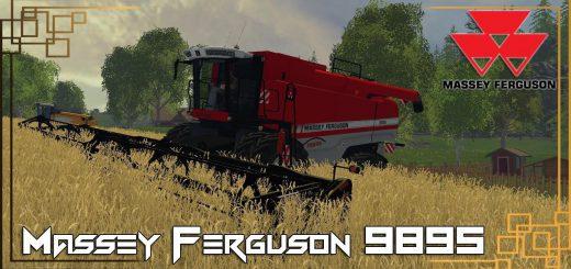 Комбайны для Мод комбайн Massey Ferguson 9895 v1.0 для Farming Simulator 2015