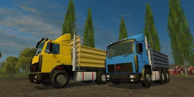 Русская техника для Мод-пак грузовиков МАЗ 5432 и 6422 для Farming Simulator 2015