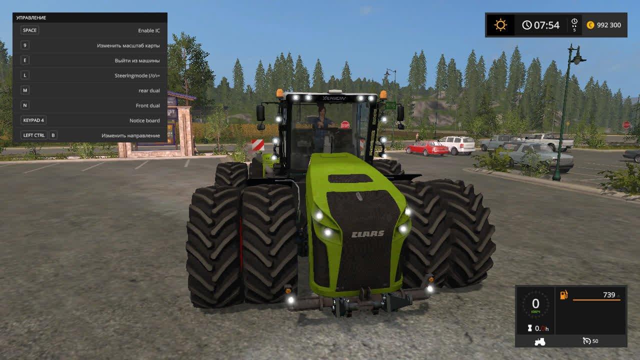 Тракторы для игры мод Мод трактор «CLAAS XERION 5000» для Farming Simulator 2017