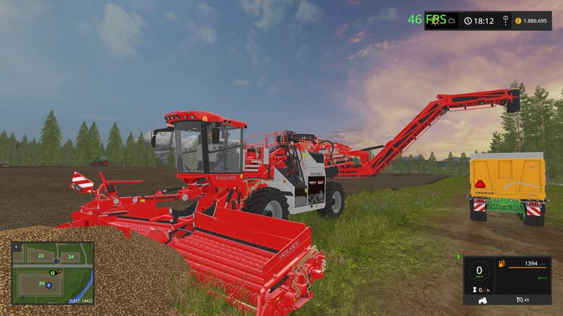 Комбайны для игры мод Мод комбайн «Holmer Terra» для Farming Simulator 2017