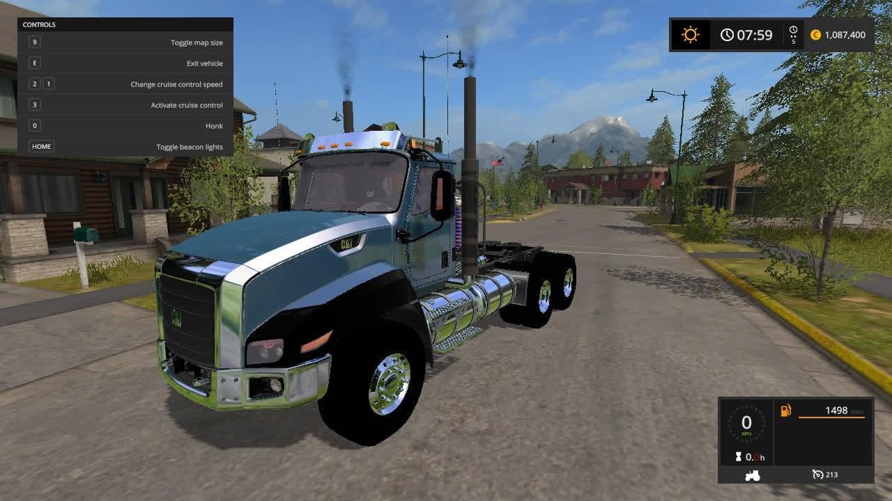 Грузовики для игры мод Мод тягач «Cat CT660» для Farming Simulator 2017