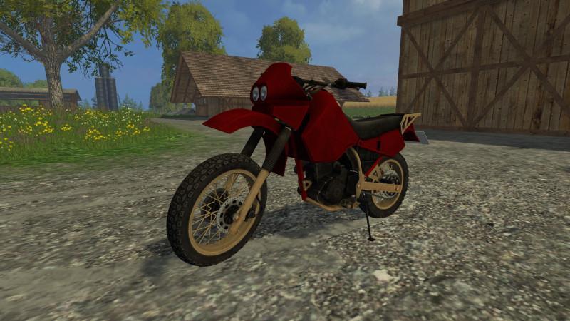 Другие моды для игры мод Мод мотоцикл Kawasaki KR650 v 1.0 для Farming Simulator 2017