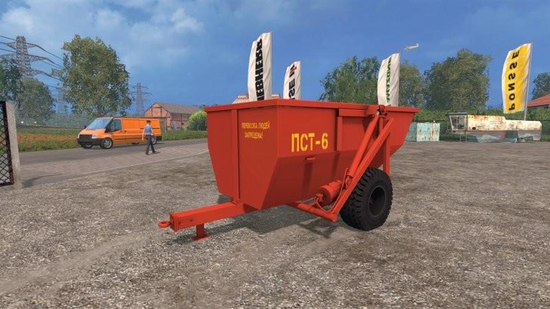 Прицепы для Мод прицеп  Пст-6 для Farming Simulator 2015