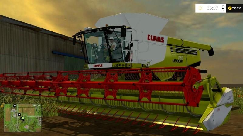 Комбайны для Мод комбайн Claas Lexion 780 Multi для Farming Simulator 2015