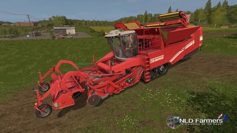 Комбайны для игры мод Мод комбайн «Grimme Tectron 415 v1.0» для Farming Simulator 2017