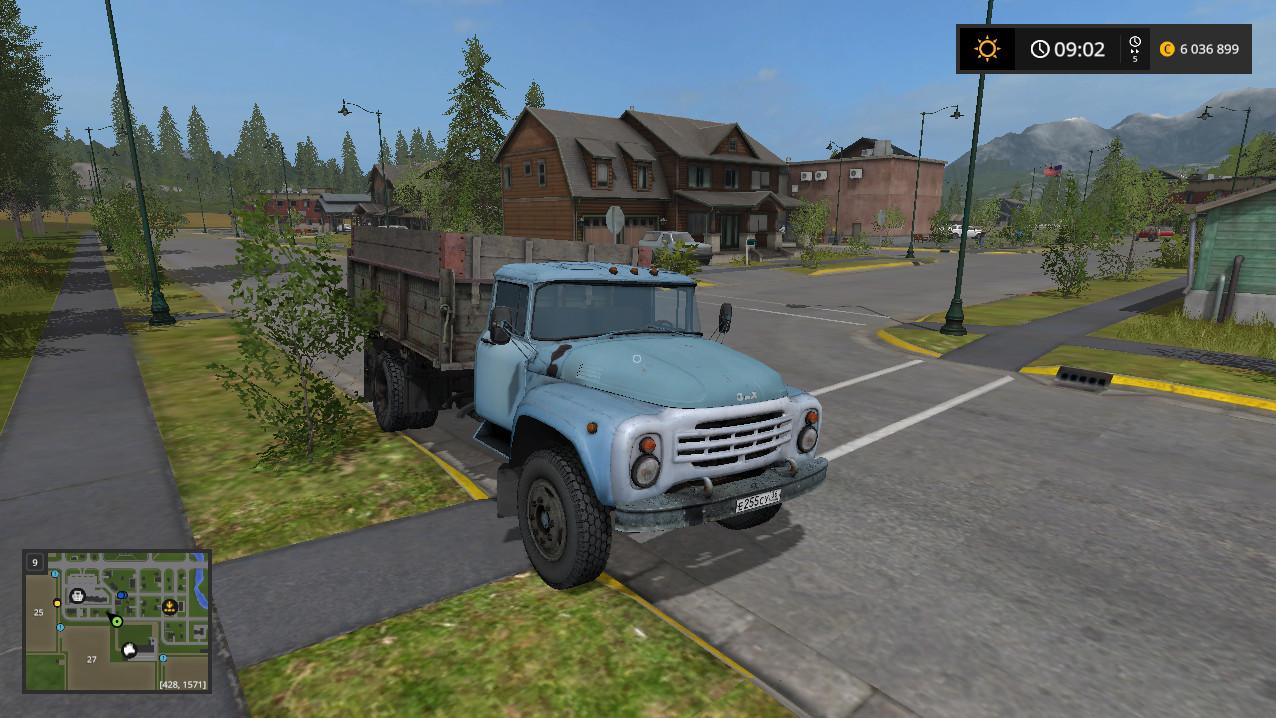 Русская техника для игры мод Мод грузовик «Зил 130» v 1.0 для Farming Simulator 2017