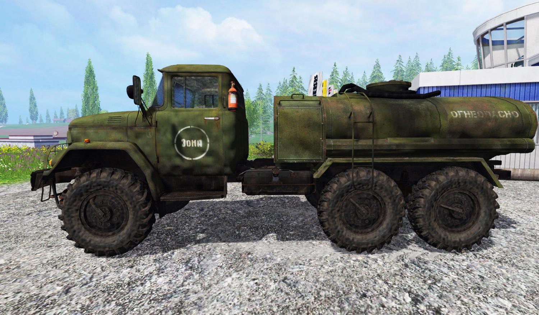 Русская техника для Мод грузовик ЗИЛ-131 (с цистерной) для Farming Simulator 2015