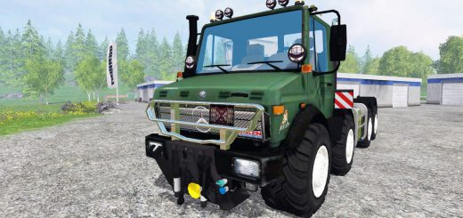 Грузовики для Мод грузовик Mercedes-Benz Unimog U2450 8x8 HKL для Farming Simulator 2015