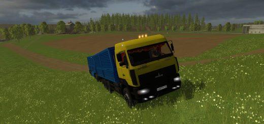 Русская техника для Мод грузовик «МАЗ Колос» и прицеп для Farming Simulator 2015