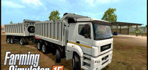 Русская техника для Мод «КамАЗ и прицепы» v1.2 для Farming Simulator 2015