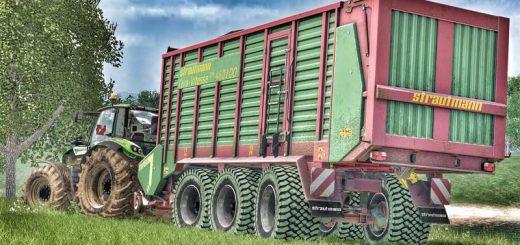 Прицепы для Мод прицеп Strautmann Tera-Vitesse 4601DO Tridem v2.0 для Farming Simulator 2015