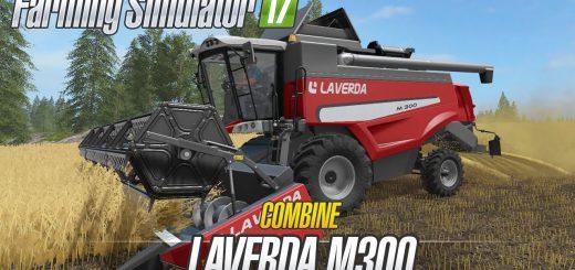 Комбайны для игры мод Мод комбайн «Laverda M300 v1.0» для Farming Simulator 2017
