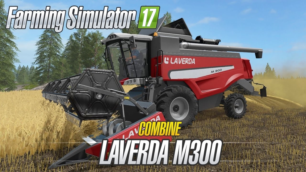 Комбайны для игры мод Мод комбайн «Laverda M300 v1.0» для Farming Simulator 2017