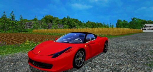 Машины для Мод машина Ferrari 458 Italia v1.1 для Farming Simulator 2015