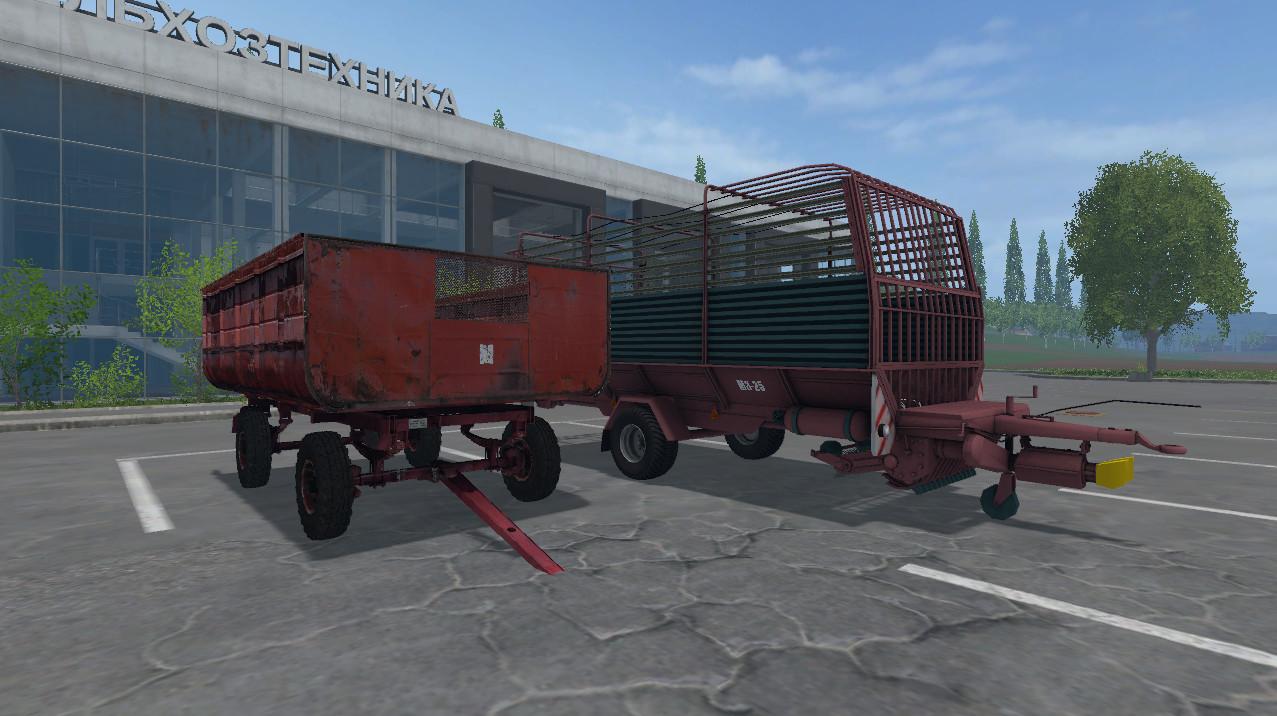 Русская техника для Мод-пак «Прицепов подборщиков» для Farming Simulator 2015