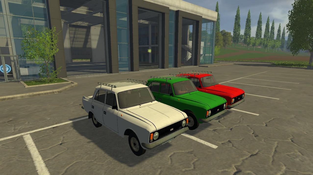 Русская техника для Мод машина «Москвич-412» для Farming Simulator 2015