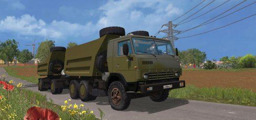 Русская техника для Мод «КамАЗ 54102» самосвал с прицепом для Farming Simulator 2015
