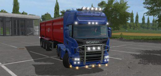 Грузовики для игры мод Мод грузовик Scania R730 Topline для Farming Simulator 2017