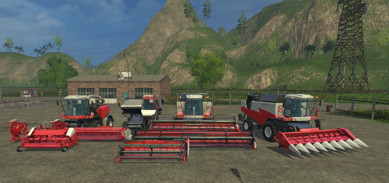 Русская техника для Мод-пак комбайнов «Ростсельмаш» для Farming Simulator 2015