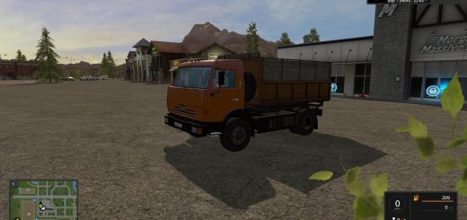 Русская техника для игры мод Мод грузовик «КамАЗ 43255» V1.0 для Farming Simulator 2017