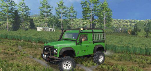 Машины для Мод машина «Land Rover v 2.7» для Farming Simulator 2015