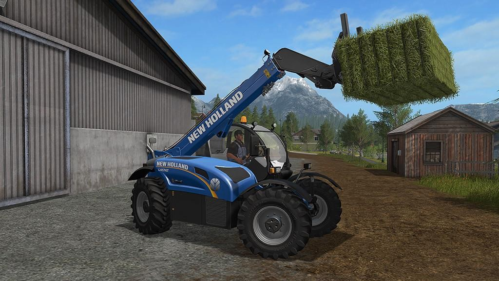 Погрузчики для игры мод Мод погрузчик «New Holland LM 7.42 v 1.0» для Farming Simulator 2017