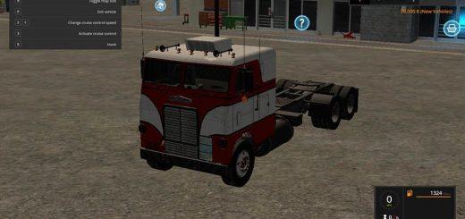 Грузовики для игры мод Мод тягач «White Freightliner cabover» для Farming Simulator 2017