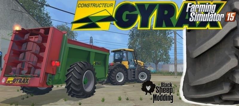 Техника для удобрений для Мод прицеп Gyrax EBMX 155 v1.1 для Farming Simulator 2015