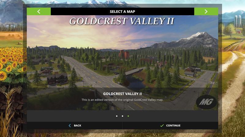 Карты для игры мод Карта «Goldcrest Valley II v 1.0.0.0» для Farming Simulator 2017