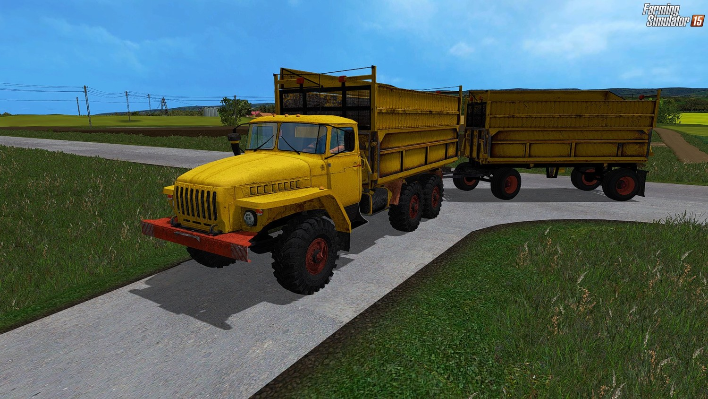 Русская техника для Мод грузовик «Урал 5577» V1.0 и прицеп для Farming Simulator 2015