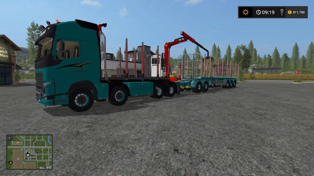 Грузовики для игры мод Мод грузовик Volvo 750 и трейлер для Farming Simulator 2017