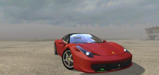 Машины для игры мод Мод на машину «Ferrari 458 Italia v1.1» для Farming Simulator 2017