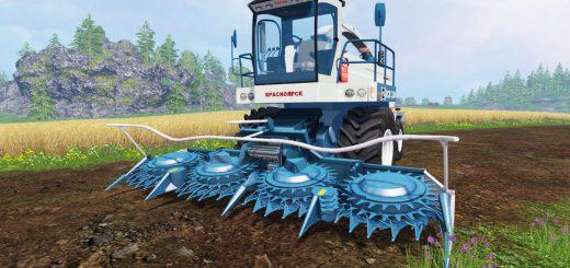 Русская техника для Мод комбайн «Енисей 324» и жатки для Farming Simulator 2015