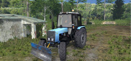 Русская техника для Мод трактор МТЗ-1025 Беларус FL + Бульдозер для Farming Simulator 2015