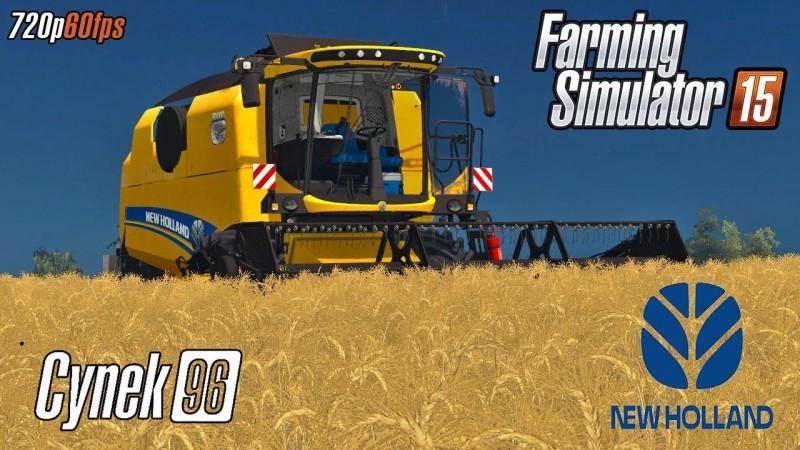Комбайны для Мод комбайн New Holland TC 4.90 v2.0 для Farming Simulator 2015