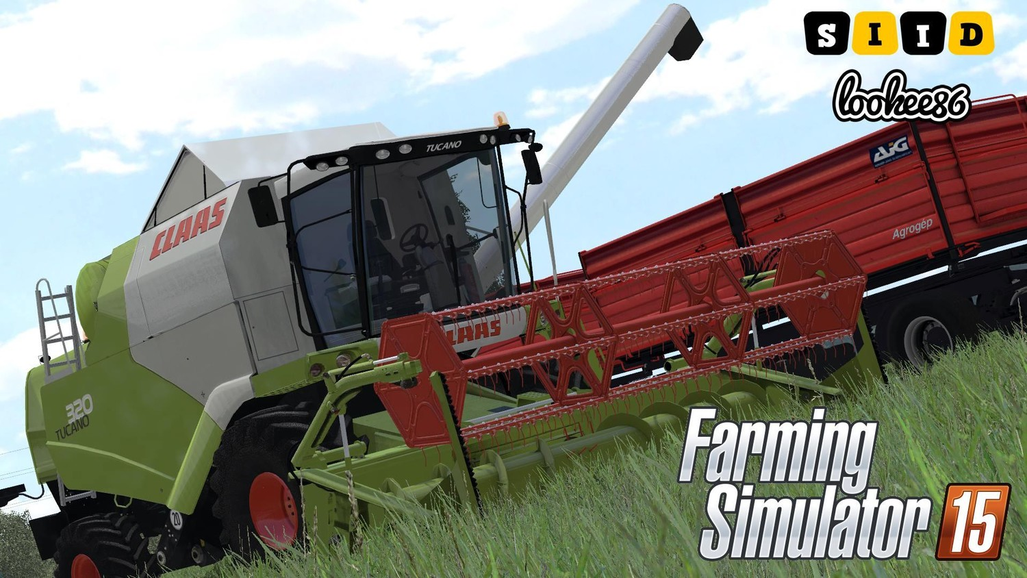 Комбайны для Мод комбайн Claas Tucano 320 v1.0 для Farming Simulator 2015