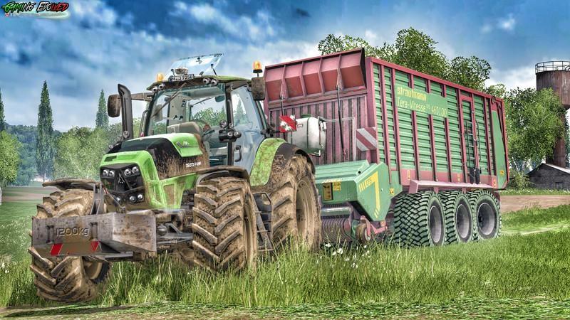 Тракторы для Мод трактор Deutz Fahr TTV 7250 v6.0 для Farming Simulator 2015