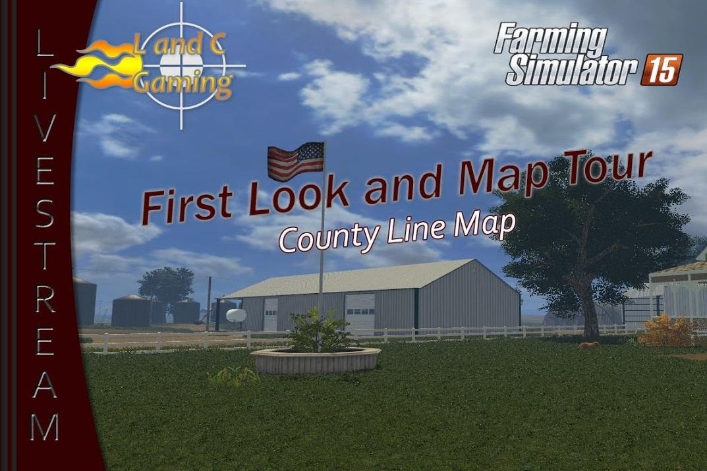 Карты для Карта County Line v 1.1 для Farming Simulator 2015