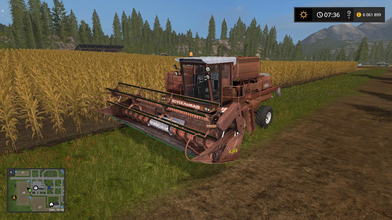 Русская техника для игры мод Мод «Комбайн Дон-1500» v1.0 для Farming Simulator 2017