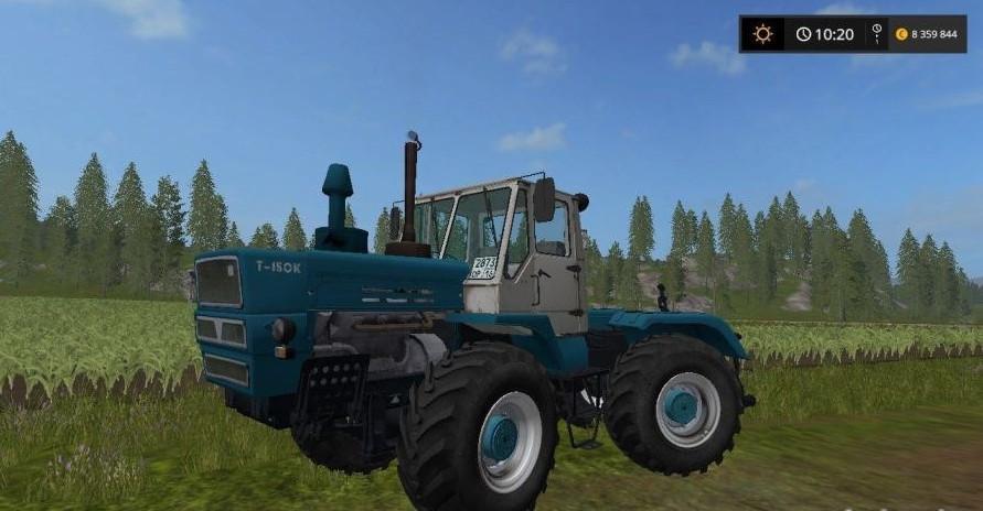 Русская техника для игры мод Мод трактор «ХТЗ Т-150К» для Farming Simulator 2017