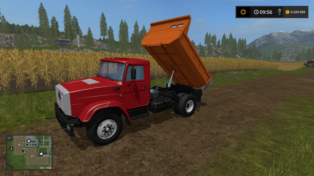 Русская техника для игры мод Мод грузовик «ЗИЛ-ММЗ-45085» v 1.0 для Farming Simulator 2017