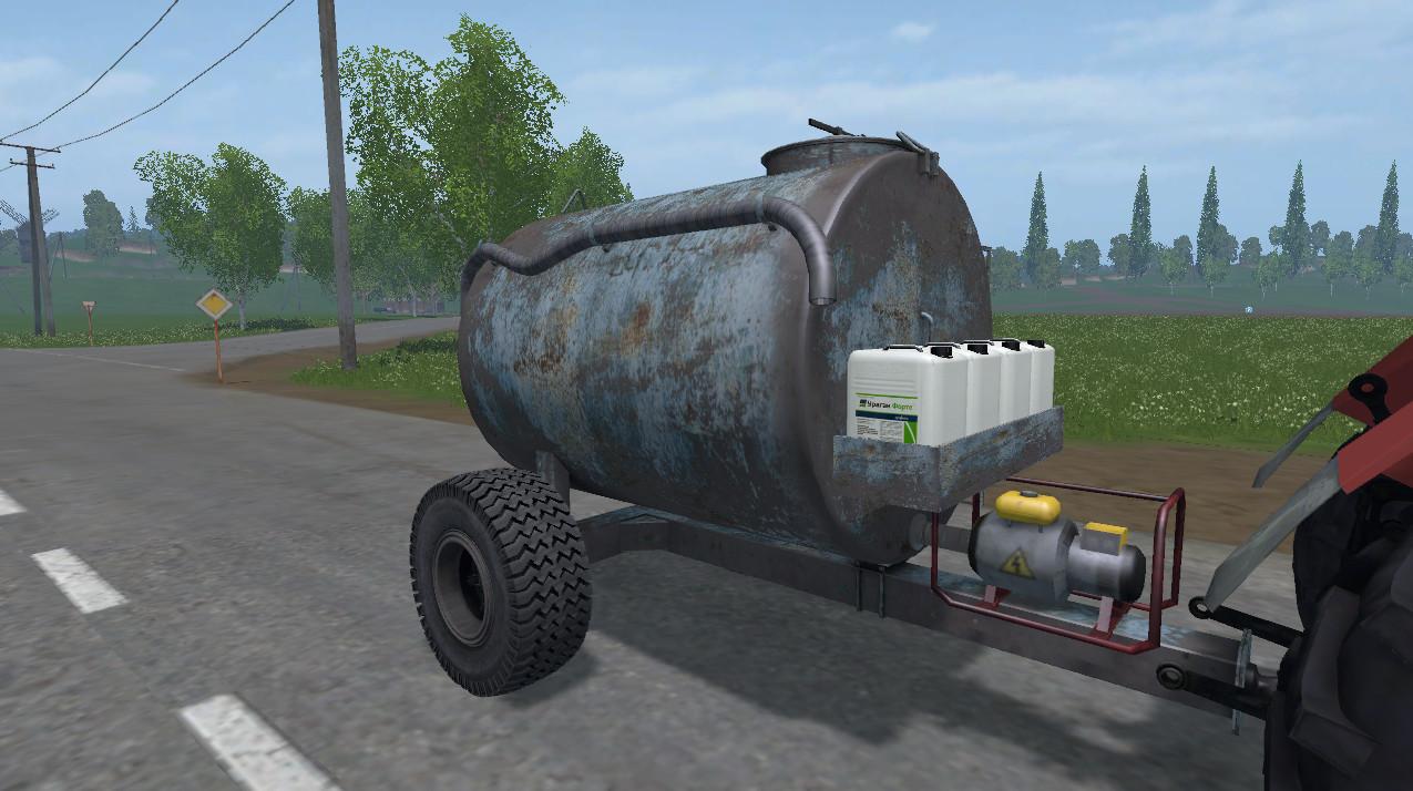 Цистерны для Мод бочка для воды «ВУО-3А» для Farming Simulator 2015