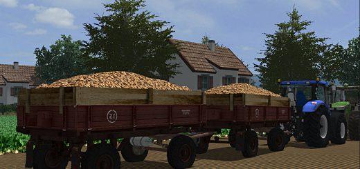 Прицепы для игры мод Мод на прицеп «ПТС 4» v3 для Farming Simulator 2017