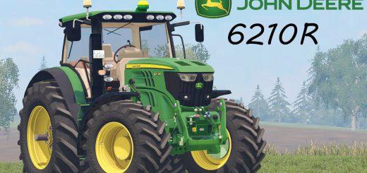 Тракторы для игры мод Мод на трактор «John Deere 6210R» для Farming Simulator 2017