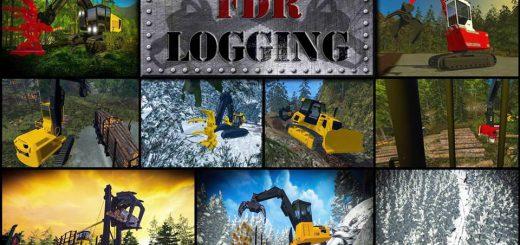 Погрузчики для игры мод Мод-пак лесозаготовительной техники для Farming Simulator 2017