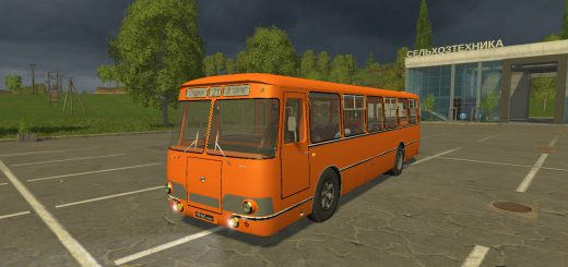 Русская техника для Мод автобус «ЛиАЗ 677» и модуль v3.0 для Farming Simulator 2015