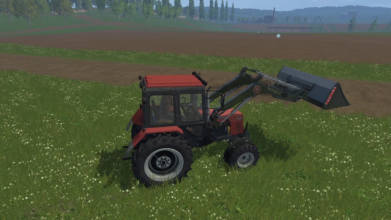 Русская техника для Мод «трактор-погрузчик МТЗ 82.1» для Farming Simulator 2015