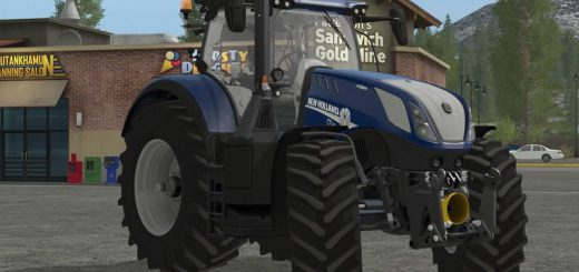 Тракторы для игры мод Мод трактор New Holland T7 Heavy Duty Blue Power v 1.0 для Farming Simulator 2017