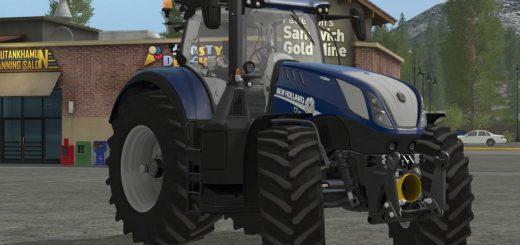 Тракторы для игры мод Мод трактор New Holland T7 Heavy Duty Blue Power v 1.0 для Farming Simulator 2017